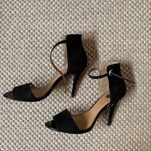 Zara black suede heels